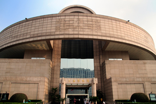 上海博物館の天円地方を模した概観 中国の写真素材 [FYI01688389]