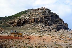 喜望峰の表示板と半島の写真素材 [FYI01688910]