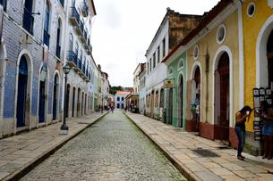 旧市街の古い街並みの写真素材 [FYI01688949]