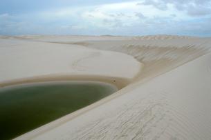 砂丘と池の写真素材 [FYI01689035]