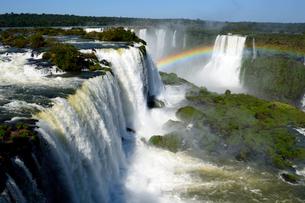 イグアスの滝と虹の写真素材 [FYI01689398]