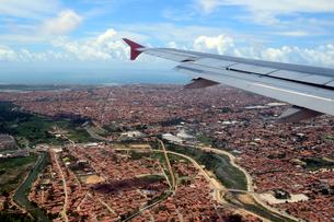 空から見た街並みの写真素材 [FYI01689595]