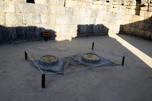 マチュピチュ遺跡の天体観測の石の写真素材 [FYI01689717]