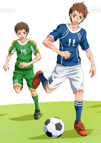 サッカー少年のイラスト素材 [FYI01690062]