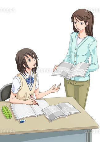 講習を受ける女子学生(背景なし)のイラスト素材 [FYI01690107]