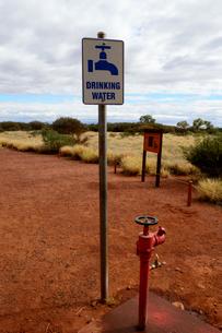 エアーズロックの水飲み場の写真素材 [FYI01690551]