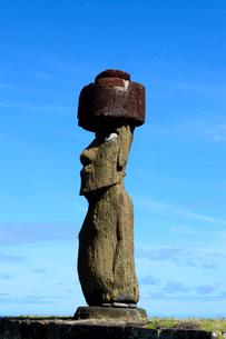 アフコテリクのモアイ像と青空の写真素材 [FYI01690844]