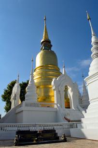 寺院のワット・スアン・ドークの金色塔の写真素材 [FYI01691080]