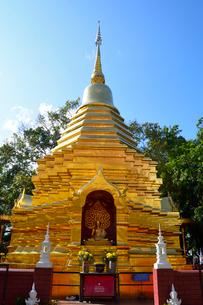 寺院のワット・ファン・オンの金色塔の写真素材 [FYI01691161]