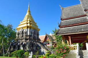 寺院のワット・チェン・マンの写真素材 [FYI01691223]