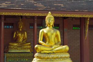 寺院のワット・チェン・ユーンの黄金の仏像の写真素材 [FYI01691289]
