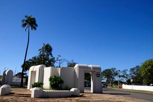 アラモアナビーチパークのルーズベルト門の写真素材 [FYI01691419]