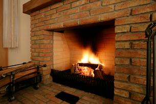 暖炉の写真素材 [FYI01691524]
