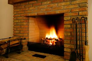 暖炉の写真素材 [FYI01691529]