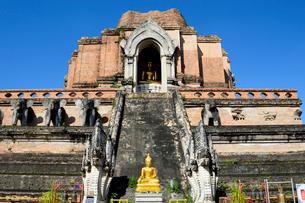 寺院のワット・チェディ・ルアンの写真素材 [FYI01691560]