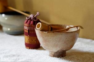 水屋の茶道具の写真素材 [FYI01691597]