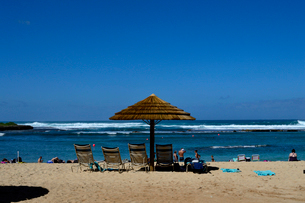 タートルベイの砂浜の写真素材 [FYI01691611]