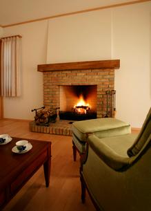 暖炉の写真素材 [FYI01691642]