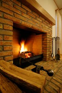 暖炉の写真素材 [FYI01691803]
