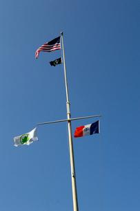 青空と国旗の写真素材 [FYI01691866]