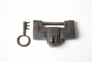 古い和錠の写真素材 [FYI01691905]