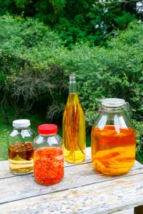 ヨウジウオ、チョウセンゴミンその他の薬酒の集合の写真素材 [FYI01691928]