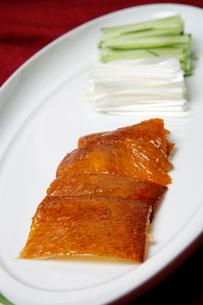 中華料理、北京ダックの写真素材 [FYI01692244]