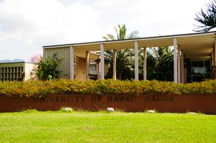 オアフ島のハワイ大学のキャンパスの写真素材 [FYI01692318]