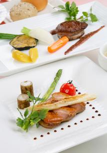 鴨肉のロースト野菜添えの写真素材 [FYI01692456]