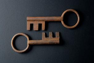 アンティークの鍵の写真素材 [FYI01692479]