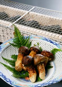 松茸と炭の写真素材 [FYI01692557]