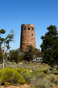 グランドキャニオン国立公園のデザートビューのウオッチタワーの写真素材 [FYI01692731]