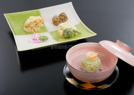 春料理の煮物と前菜イメージの写真素材 [FYI01693113]