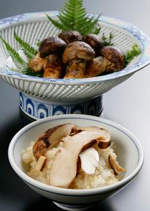 松茸ご飯と松茸の写真素材 [FYI01693934]