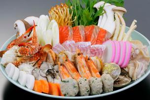 海鮮鍋の具の写真素材 [FYI01694012]