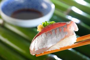 鯵の握り寿司の写真素材 [FYI01694071]