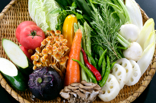 野菜の盛り合せの写真素材 [FYI01694298]