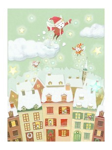 ハッピーメリークリスマス4のイラスト素材 [FYI01694424]