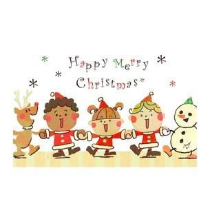 ハッピーメリークリスマス2のイラスト素材 [FYI01694470]