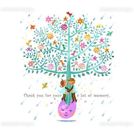 生命の樹と恋人2のイラスト素材 [FYI01694473]