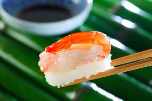 赤海老の握り寿司の写真素材 [FYI01694734]