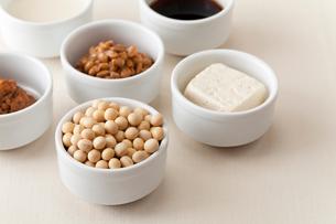 大豆と大豆製品の写真素材 [FYI01694881]