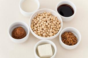 大豆と大豆製品の写真素材 [FYI01694929]