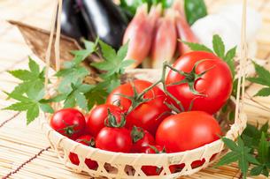 トマトと夏野菜の写真素材 [FYI01695189]