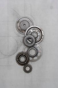 バイクのミッションギアの写真素材 [FYI01695472]