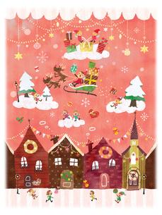 ハッピーメリークリスマスのイラスト素材 [FYI01695612]