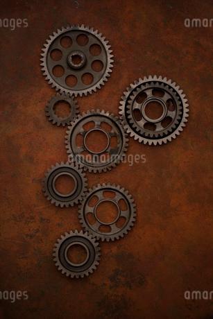 バイクの変速機の歯車の写真素材 [FYI01695901]