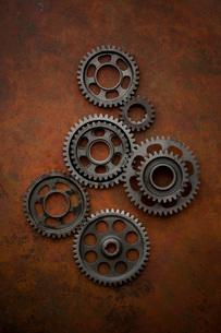 バイクの変速機の歯車の写真素材 [FYI01695909]