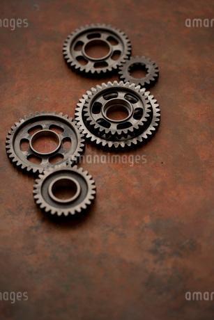 バイクの変速機の歯車の写真素材 [FYI01696050]