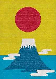 富士山と初日の出のイラスト素材 [FYI01698741]